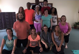 Yoga teacher instruction graduates