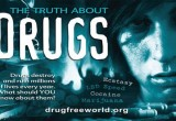 They handed out copies of The Truth About Drugs booklets.