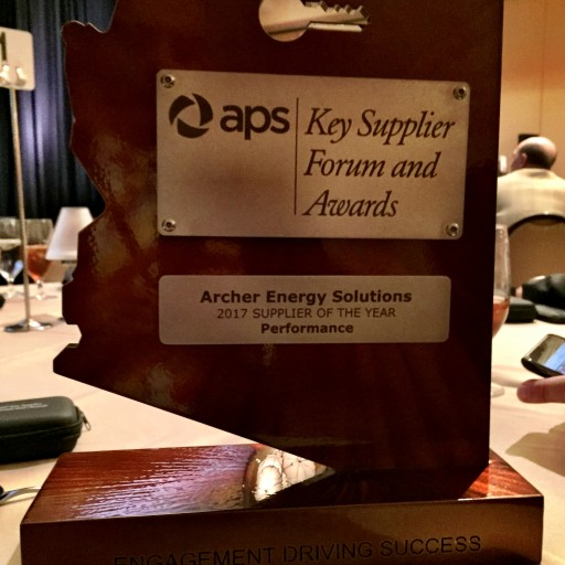 Archer Energy Solutions Earns Supplier of the Year Award From APS