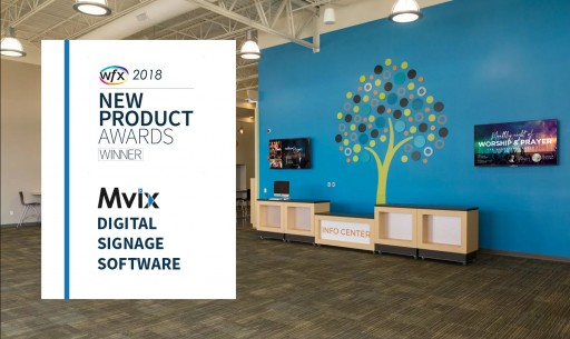 Mvix Wins 2018 WFX New Product Award for Church Digital Signage