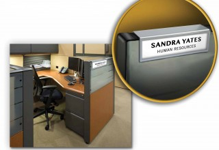 Cubicle Name Plate with Silver Border