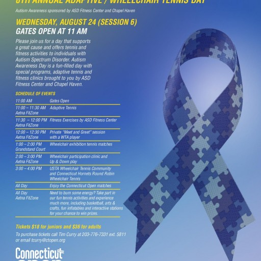 Autism Awareness Day at the Connecticut Open