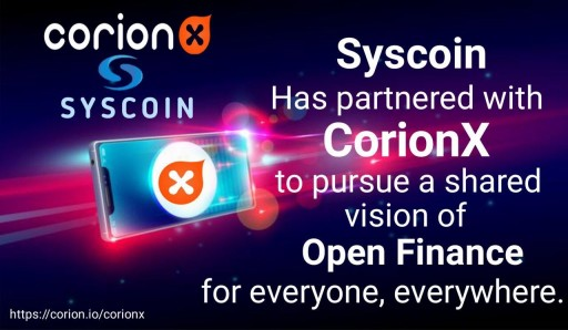 CorionX and Syscoin Join Hands to Drive Stablecoin Adoption, CorionX IEO Enters Third Round