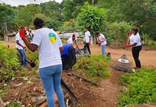 Bringing the neighborhood together for a cleanup in South Africa