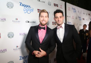 Lance Bass and Michael Turchin on the Red Carpet