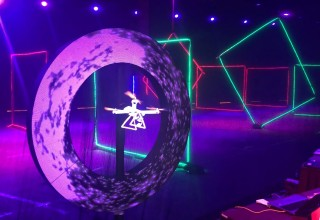LED Video Circle and Hypervsn Floating Video Drone from TLC Creative Attract Energy