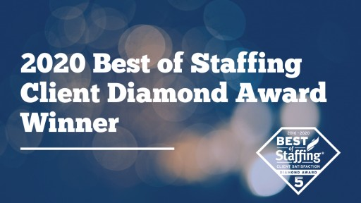 Sparks Group Wins ClearlyRated's 2020 Best of Staffing Client Diamond Award