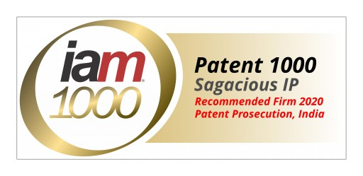 Sagacious IP Included in Recommended Firms for Indian Patent Prosecution in the Latest IAM 1000 Rankings