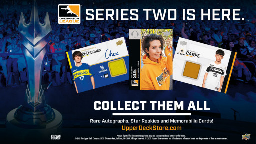 Upper Deck's First-Ever Esports Spokesperson Revealed in New Overwatch League™ Series 2 Trading Cards