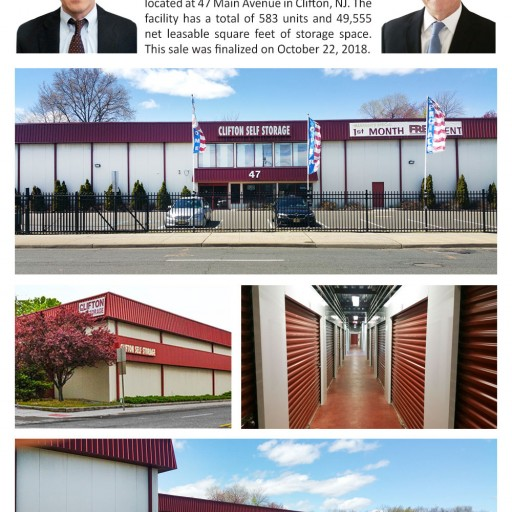 The Storage Acquisition Group Announces the Sale of Clifton Self Storage in New Jersey