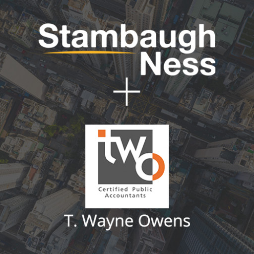 Stambaugh Ness Announces Acquisition of T. Wayne Owens & Associates, PC and TWO CPAs & Consultants, Inc. (TWO)