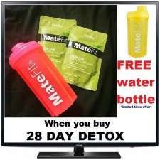 Free Yellow Shaker Bottle when you buy MateFit Teatox  28 Day Detox  *Limited Time Offer*