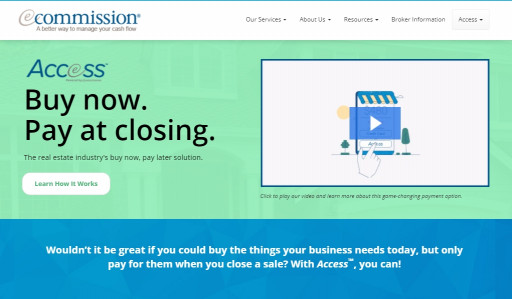 eCommission launches Access: Buy now, pay at closing