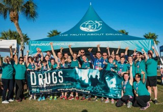 Drug-Free World volunteers at the annual Say No to Drugs race in Clearwater
