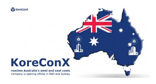 KoreConX Reaches Australia's West and East Coasts