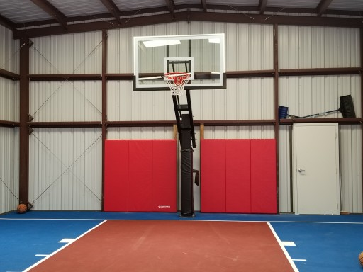 Twentynine Palms Father Uses Greatmats to Convert RV Garage Into Basketball Court for Teen Twins