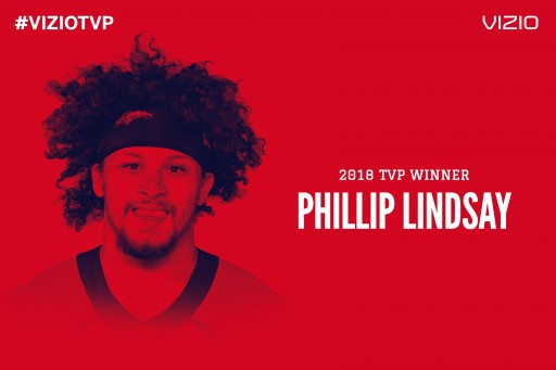 Breakout Running Back Phillip Lindsay Named 2018  VIZIO Top Value Performer