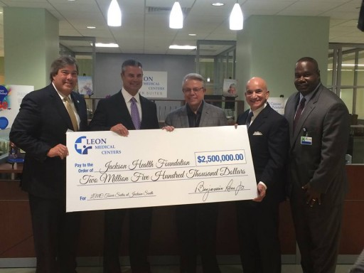 Leon Medical Centers Donates $2.5 Million to Jackson Health Foundation
