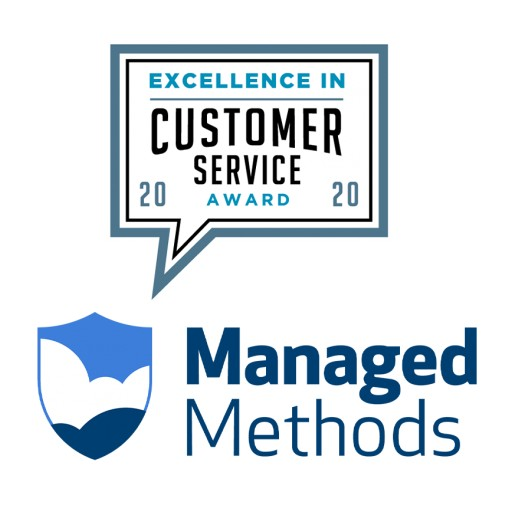 ManagedMethods Wins 2020 Excellence in Customer Service Award