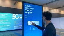 Interactive Experience Connects Conference Participants with Touchscreens and Video Walls