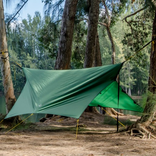 Inventor Designs the World's Most Versatile Camping Tarp and Gets Funded on Kickstarter in 1 Hour!