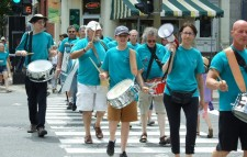 Volunteers from the Church of Scientology Montreal and Church of Scientology Quebec raise awareness on the danger of drugs with a march through the center of Montreal.