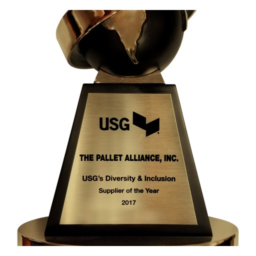 "Pallet Alliance Wins USG ""Diversity and Inclusion Supplier of the Year"" for 2017."