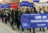 Some 200 students took part in the seventh annual Youth for Human Rights Walk to raise awareness of human rights and unite youth to fight bullying in Copenhagen schools.
