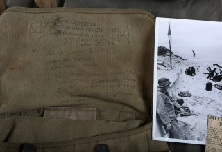 D-Day Invasion Carried U.S. Marked Canvas Bag of Lt. Henry L Oakes
