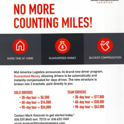 Mid America Logistics Announces 'No More Counting Miles' Driver Pay Program