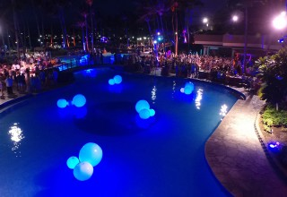 Glowballs Float on Pools and Fountains Lighting Up Special Events