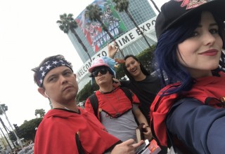Some 'ZombieCON' team members at Anime Expo