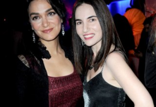 Attorney Nadia Davari and client, actress Vida Ghaffari