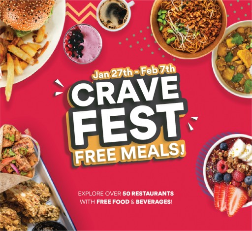 Restaurant App Crave to Host a Food Fest With Daily Free Meals and Beverages