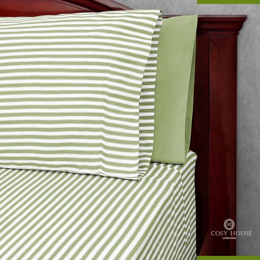 Cosy House Collection Offers Cosy House Bamboo Bed Sheets With Stripes on Amazon