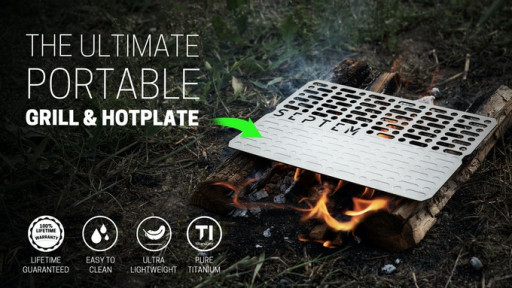 SEPTEM Launches the Smallest Pure Titanium Camp Grill & Hotplate on Kickstarter