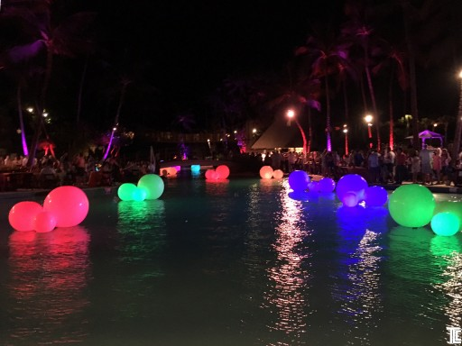 Lighting Up Poolside Events With LED Glowballs Changing Colors