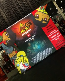 'ZombieCON' Light Box Shines Brightly in the Center of the Convention