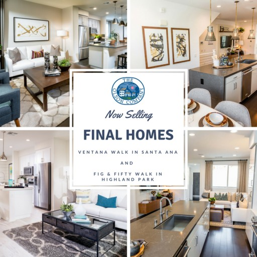 Final Few Homes at Santa Ana's Ventana Walk and Highland Park's Fig & Fifty Walk