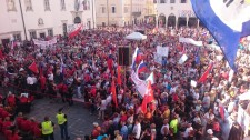 Rally at the Port of Koper