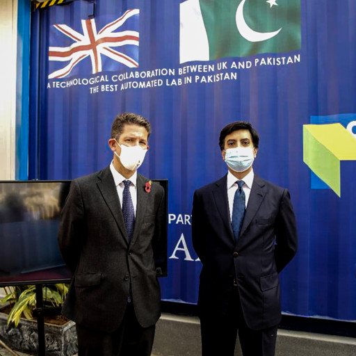 British High Commissioner Dr. Christian Turner Inaugurates Robot-Operated Covid-19 Testing Lab in Islamabad