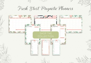 Introducing The Fresh Start Magnetic Planner Collection