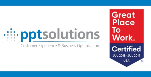 PPT Solutions Recognized as a Great Place to Work