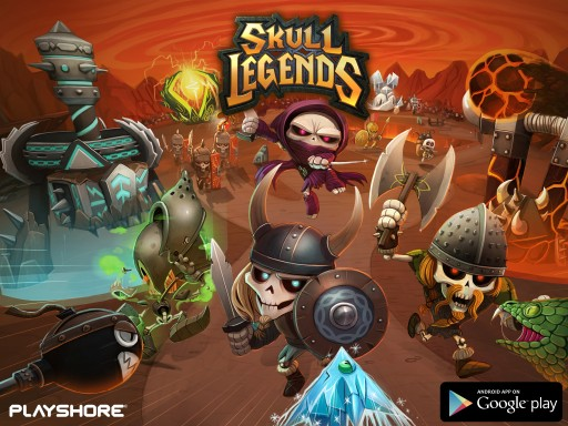 Action Tower Defense Skull Legends now available for Google Play