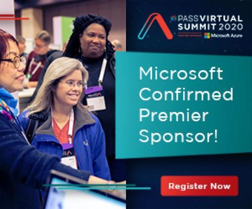 Microsoft Confirmed Premium Sponsor at PASS Virtual Summit 2020