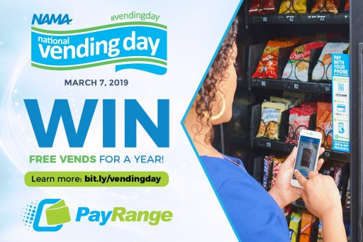 PayRange Promotes 'Win Free Vends for a Year'