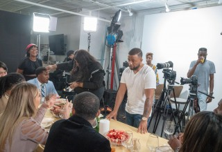 "On the set of ""8 At The Table"""