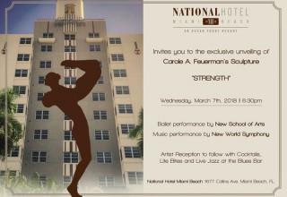 Carole Feuerman invitation at National Hotel