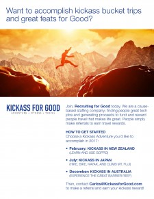 Enjoy Kickass for Good Adventures
