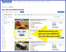 BeachAutomotive.com Search Page Example